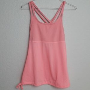 Champion S Pink Active Top Side Criss Cross Straps